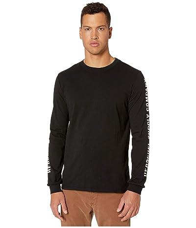 Herschel Supply Co. Sleeve Print Long Sleeve Tee (Sleeve Print Black/White) Men