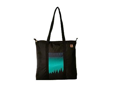 tentree Mobius Daily Tote (Meteorite Black/Northern Juniper) Tote Handbags