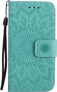 94de5e8c257 Funda para Samsung Galaxy S5 Mini Billetera PU,Uposao Slim Flip Case Libro  Funda de