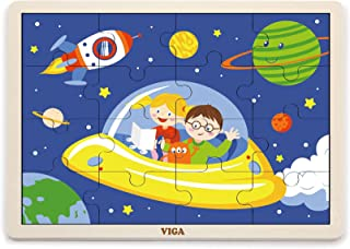 VIGA Wooden Puzzle -Space (16 pcs)