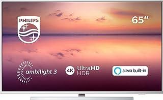 "Philips TV Ambilight 65PUS6814/12 65"" 4K UHD TV LED Pixel Precise Ultra HD, HDR10+, Dolby Vision∙Atmos, Smart TV, Alexa Integrata, Modello 2019/2020, Argento"