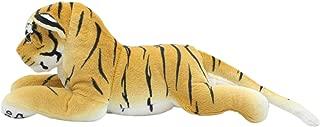 TAGLN Vivid Stuffed Animals Lifelike Toys Realistic Plush Groveling Brown Tiger 17.7 Inch