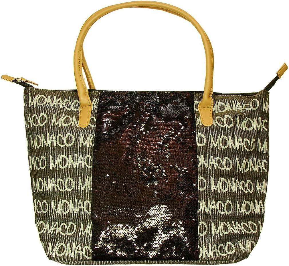 Monaco Robin Ruth 'Glitters' Handbag - Brown