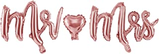 wYw Foil Balloon Mr Mrs - Rose Gold, Foil Letters Balloon Pack for Weddings 69x125cm