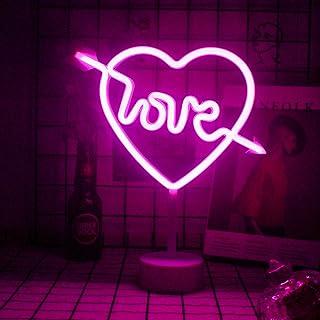 L'amour Des Enseignes Au Néon Avec Base Lampe De Table Rose Led Signe De Lumière Veilleuse Signe Décoratif Pour Table De C...