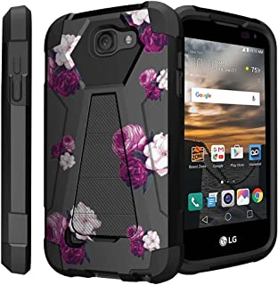Untouchble Case for LG K3 Hard Case| LG LS450 Case [Traveler Series] Shock Absorbing Drop Protection Dual Layer Case - Shades of Purple Flowers