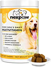 NEXPAW Multivitamins for Dogs. All-in-One Daily Dog Vitamins and Supplements for Joints, Immune System, Digestion, Skin & ...