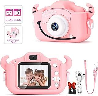 Salandens cámara digital para niños, adecuada para niñas pequeñas, cámara de juguete, cámara de video para niños, cámara p...