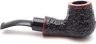 Mr. Brog Bent Billard Tobacco Pipe - Model No: 89 Standup Pecan Rusticated - Mediterranean Briar Wood - Hand Made