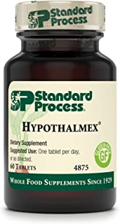 Standard Process - Hypothalmex - Hypothalamus Gland Health Support Supplement, 20 mg Calcium, Gluten Free - 60 Tablets