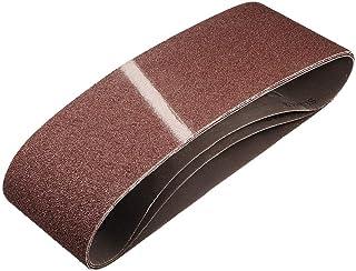 """4""""x 24"""" 60 Grit Sanding Belt Aluminiumoxid Sandpapper Bälten för Bärbar Strip Slipmaskin Efterbehandling Metall Gips Poler..."""