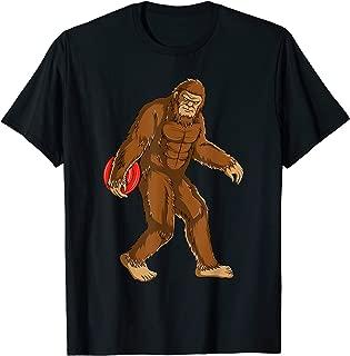 Funny Bigfoot Sasquatch Disc Golf Player Gift T-Shirt