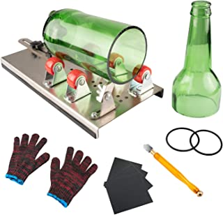 Glass Bottle Cutter, VIBIRIT Glass Cutting Tools with Accessories, DIY Wine Bottle Cutter Machine for Cutting Round or Square Glass Bottles
