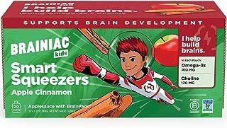 Brainiac Kids Applesauce Pouches, Apple Cinnamon, 20 Count, 3.2 oz. – Unsweetened Applesauce with Immune Boosting Vitamin ...