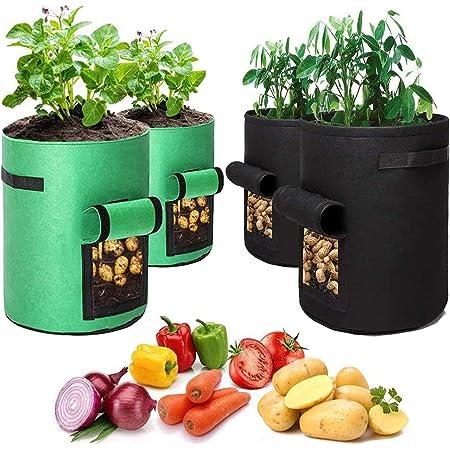 Garden Grow Sac Réutilisable de pomme de terre légumes plantation Récipient avec vitre latérale