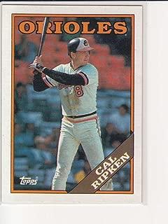 1988 Topps Cal Ripken Jr. No 650 Baltimore Orioles