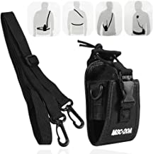 Universal Walkie Talkie Bag Pouch with Adjustable Shoulder Strap Portable Radio Holder Case Multi-Function for Kenwood/Motorola/HYT Two-Way Radio