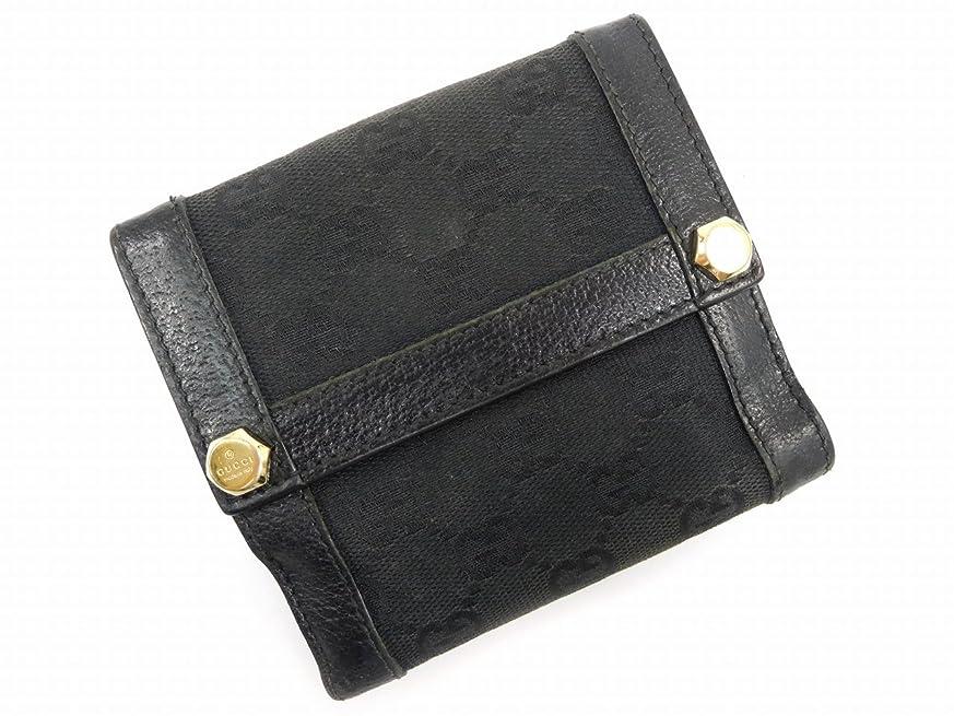 体系的に十一幸運[グッチ] GUCCI 二つ折り財布 GGキャンバス 154117 キャンバス×レザー X7334 中古