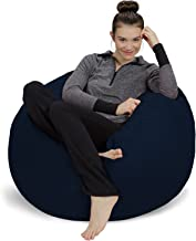 Sofa Sack - Plush, Ultra Soft Bean Bag Chair - Memory Foam Bean Bag Chair with Microsuede Cover - Stuffed Foam Filled Furniture and Accessories for Dorm Room - Navy 3'
