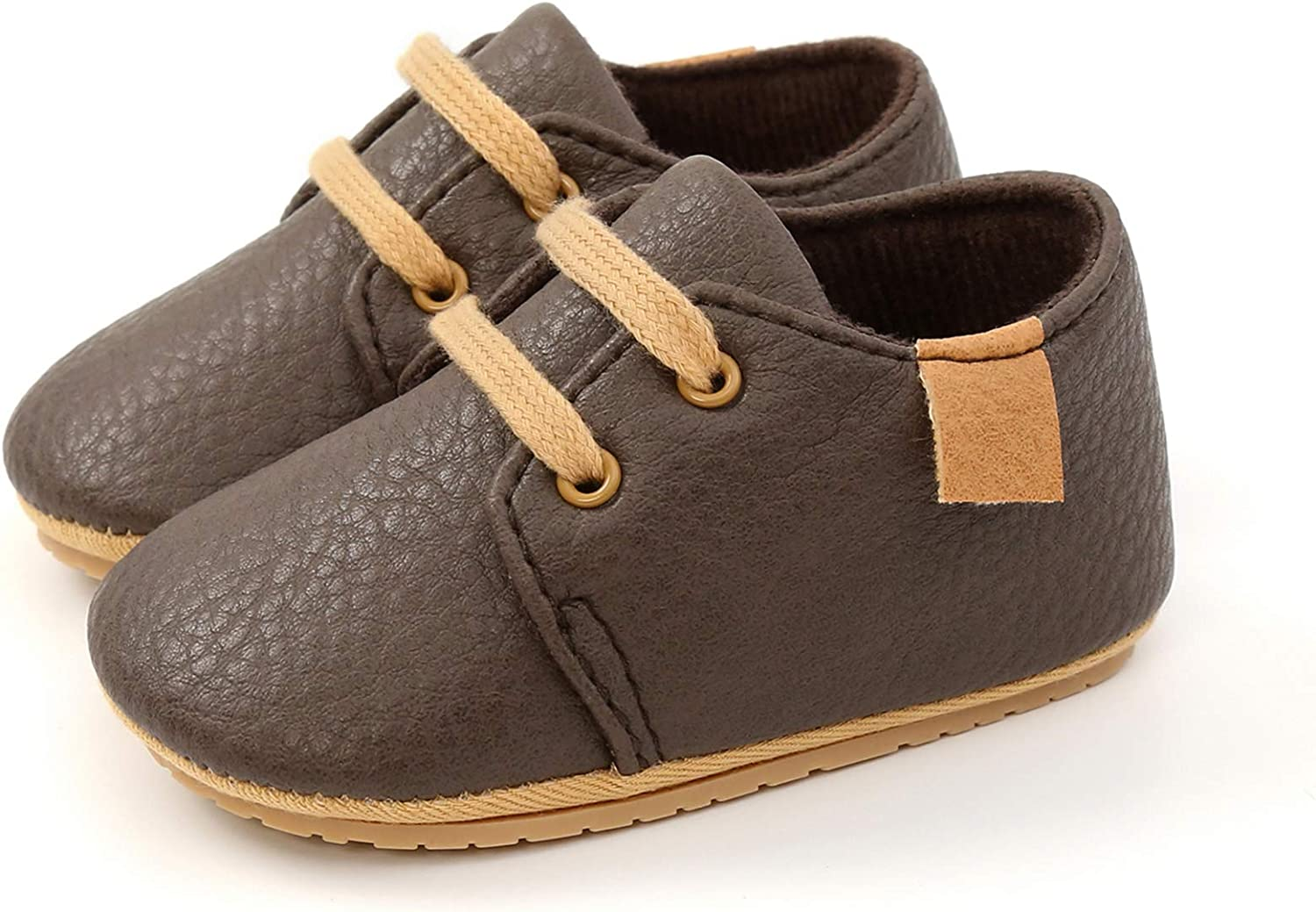 WILLFUN Baby Reservation Boys Girls PU Leather Max 75% OFF Rubber Lace-u Soft Shoes Sole
