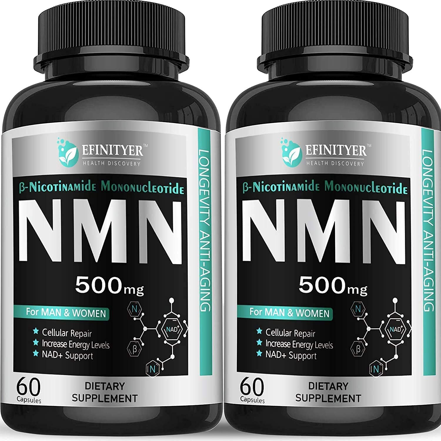 security Pack of Max 89% OFF 2 NMN Supplement Mononucleotide Per Nicotinamide 500mg