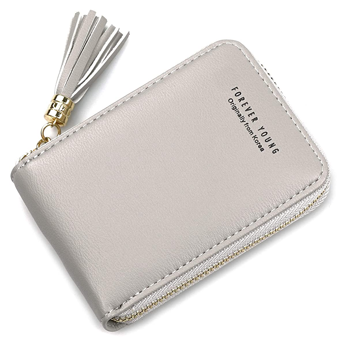 Small RFID Blocking Credit Card Wallet Zipper Change Purse Card Holder Accordion Coin Purse Pocket Wallet