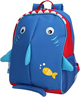 Yodo Little Kids School Bag Pre-K Toddler Backpack - Name Tag and Chest Strap, Shark
