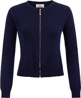 Women's Long Sleeve Open Front Knit Cropped Bolero Shrug Cardigan