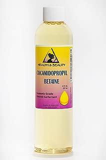 Cocamidopropyl Betaine Coco Betaine CAPB Natural Surfactant Liquid Premium Highest Purity 100% Pure 8 oz