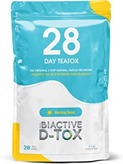 Dual Biactive 28 Day Tea-Tox: All-Natural Cleanse, Weight Loss Tea/Boost Energy Levels & Constipation Relief .28 Count