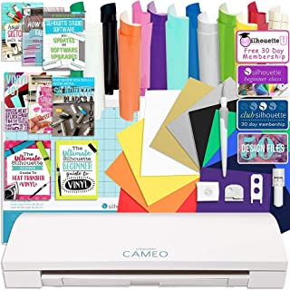Siser Easyweed T-Shirt Vinyl Transfer Paper Silhouette White Cameo 3 Bluetooth Starter Bundle with 36 12x12 Oracal Premium Vinyl Sheets 24 Sketch Pens Guide Class Membership