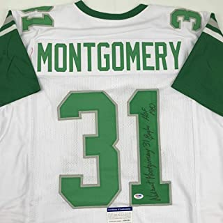 Autographed Wilbert Montgomery Jersey - Insc White COA - PSA/DNA Certified - Autographed NFL Jerseys