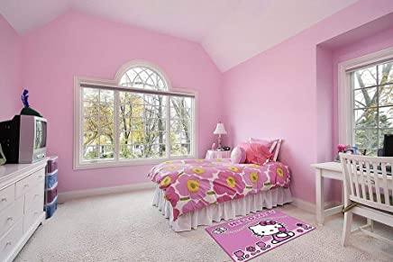 Associated Weavers 618279 Moderne Tapis Hello Kitty Papillon Et Fleurs  Polyamide Rose 133 X 97 X