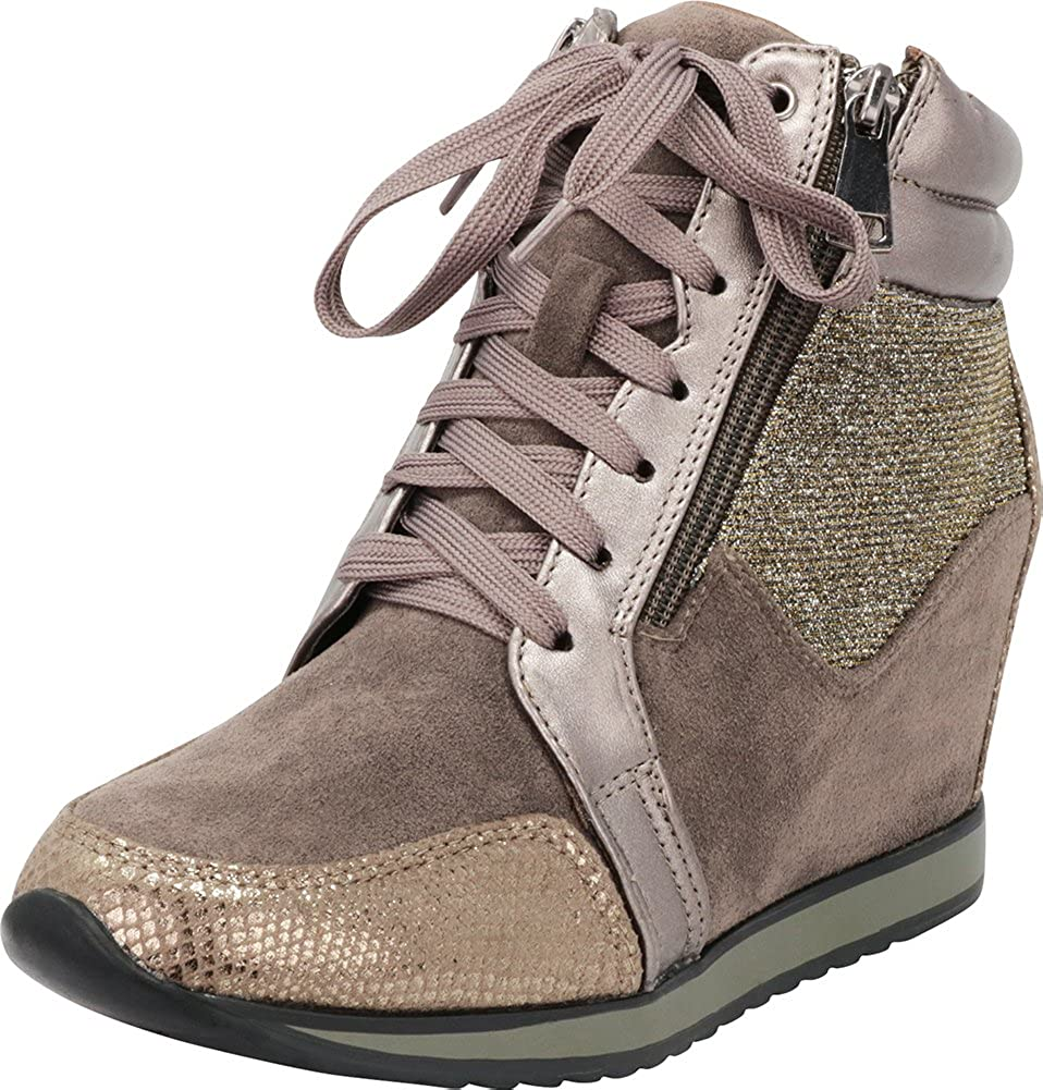 Cambridge Select Women's Closed Long-awaited Toe Media Glitter Be super welcome Lace-up Mixed