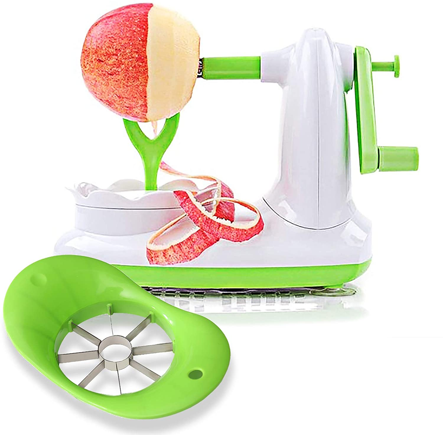 EZMO Apple Peeler Pear El Paso Mall with and Wedges Slicer SALENEW very popular Co 8