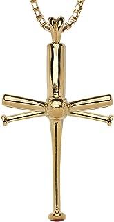   The Original Baseball Bat Cross Necklace