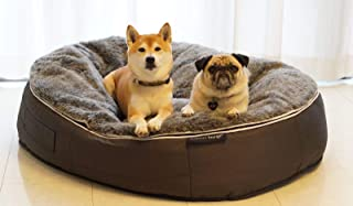 Large Dog Size, pre-Filled Ambient Lounge® Luxury Dog Bed with hygienic, Washable Faux Fur Cover & chew-Resistant Waterproof Base