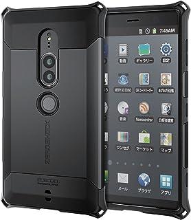 エレコム Xperia XZ2 Premium ケース SOV38 / SO-04K ZEROSHOCK ゼロショック 耐衝撃 ブラック PM-XZ2PZEROBK