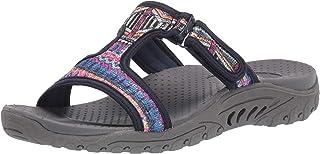 Skechers REGGAE - SEQUENCE - Sequined T-Strap Slide womens Sandal