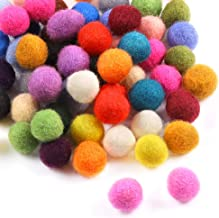 Sntieecr 120 Pieces 10mm Wool Felt Balls Mixed Colored Handmade Felted Pom Poms Pure Wool Beads Felt Ball for DIY Crafts