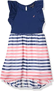 Nautica girls Girls' Sleeveless High Low Hem Dress Casual Dress
