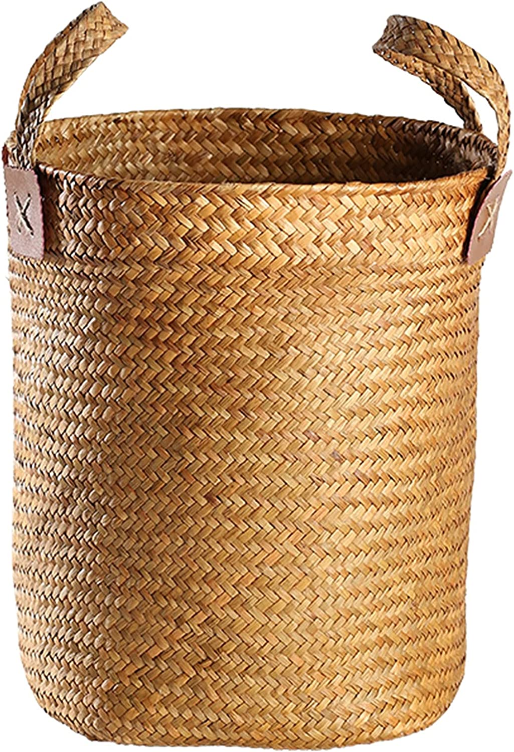 XMJM Seagrass Woven Max 62% OFF Basket for Baskets H Decorative Plants with Max 65% OFF