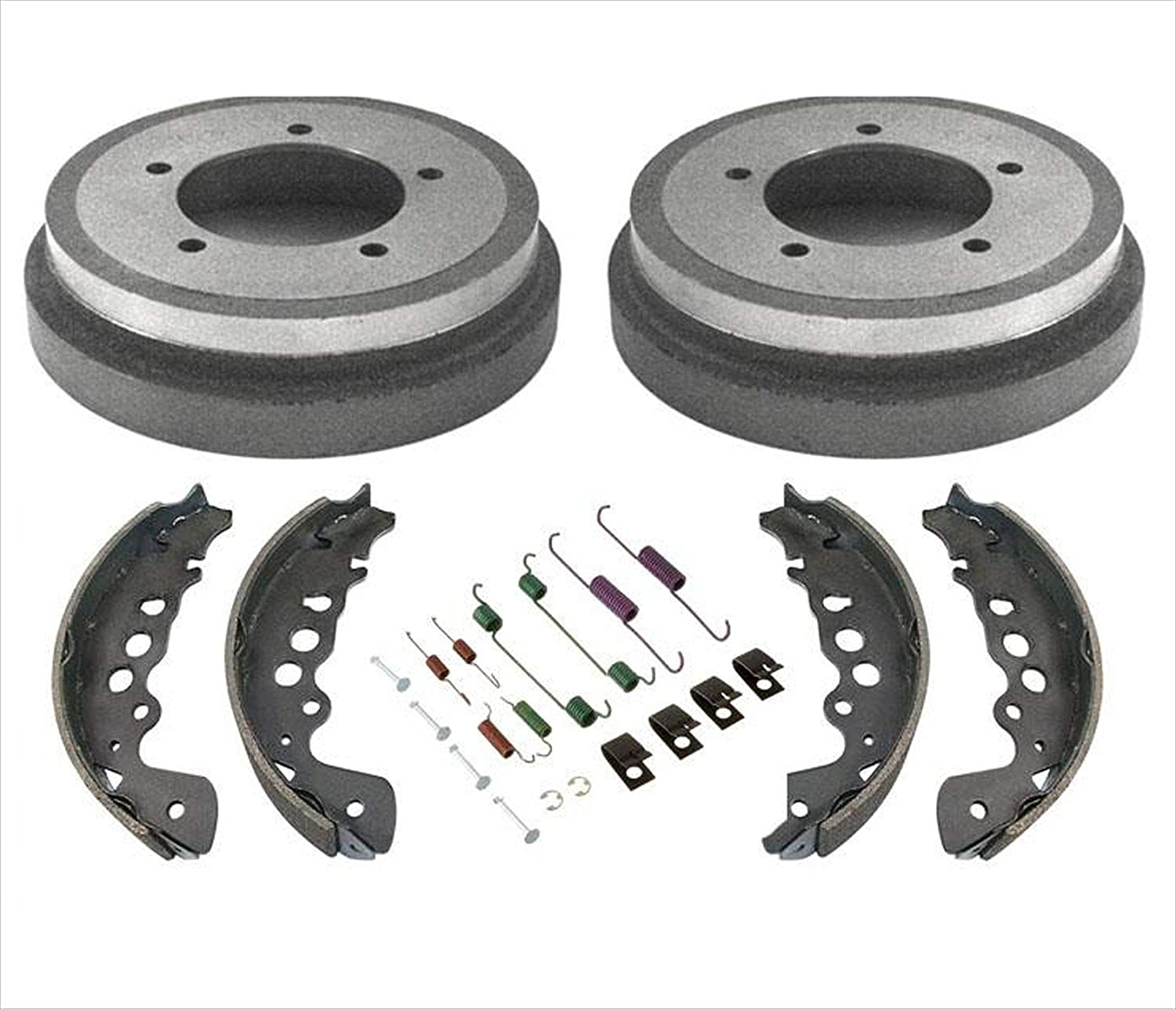 Rear Brake Drums Shoes Springs Tracker 100 新作多数 新作 大人気 00-04 Chevy For
