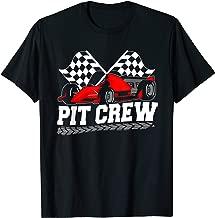 Pit Crew Car Racing Checkered Flag Racing Party T-Shirt