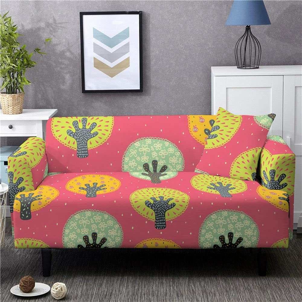 Couch Covers Cover Excellent Cartoon National products Tree Pink Rose Furniture Print