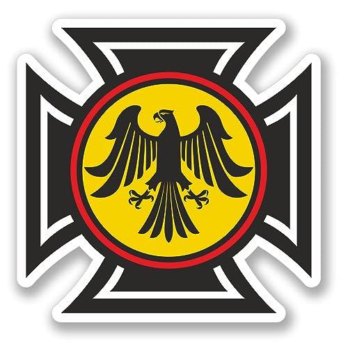 2 x Deutschland Germany German Eagle Sticker Car Bike iPad Laptop Decal #4107