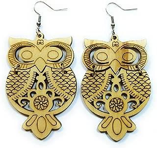 Best wooden owl earrings Reviews