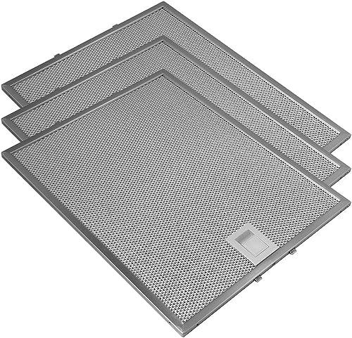 Adapté pour Bosch / Siemens / Gaggenau / Neff (3 pcs.) Filtre Métallique AllSpares 353110 / 00353110