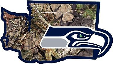 ملصق NFL Seattle Seahawks State w/Mossy Oak Camo ، أخضر