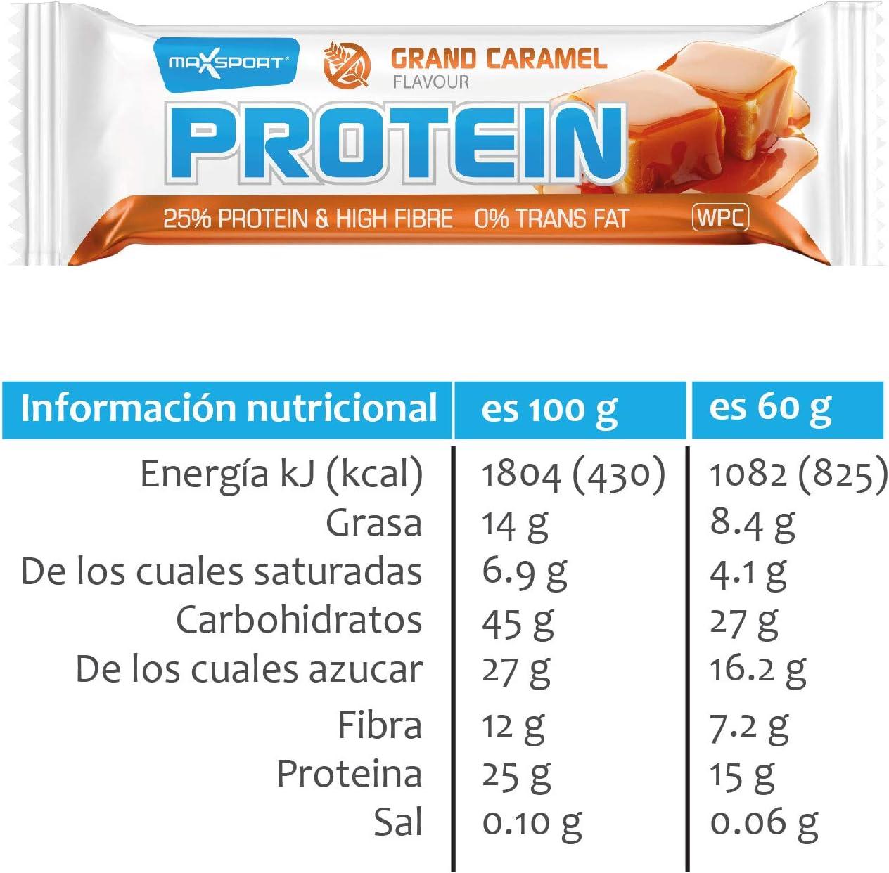 Barritas de proteicas (bar protein) de 60gr. Pack de 24 (24x60gr.) sustitutivas comida, ideal para alimentación deportiva, bajas en azúcar, sin ...